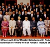 A group Photo of Senior Officers with Chief Minster Balochistan Dr. Abdul Malik Baloch on the occasion of Certificate distribution ceremony held at National Institute of Management Karachi on July 11, 2014 (11-7-2014)