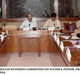 SENATOR MUHAMMAD ZAHID KHAN, CHAIRMAN SENATE STANDING COMMITTEE ON WATER & POWER, PRESIDING OVER A MEETING OF THE COMMITTEE, AT PARLIAMENT HOUSE ISLAMABAD ON JULY 15, 2014.