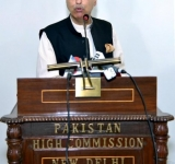 HIGH COMMISSIONER OF PAKISTAN TO INDIA, ABDUL BASIT ADDRESSING ON THE OCCASION OF AN IFTAR DINNER AT HIGH COMMISSION OF PAKISTAN NEW DELHI