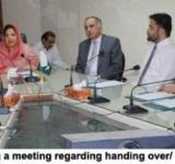 MOS IT Mrs. Anusha Rahman chairing a meeting regarding handing over/ taking over of SZMC July 21, 2014