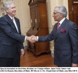 Special Assistant to the Prime Minister on Foreign Affairs, Syed Tariq Fatemi met with the Deputy Secretary of State, Bill Burns in  the  Department of State today,  July 22nd 2014  Embassy of Pakistan