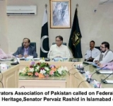 A delegation of Cable Operators Association of Pakistan called on Federal Minister for Information, Broadcasting and National Heritage,Senator Pervaiz Rashid in Islamabad on July 23, 2014.