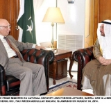 ADVISER TO THE PRIME MINISTER ON NATIONAL SECURITY AND FOREIGN AFFAIRS, SARTAJ AZIZ IN A MEETING WITH THE SECRETARY GENERAL  OIC, IYAD AMEEN ABDULLAH MADANI, ISLAMABAD ON AUGUST 04, 2014.