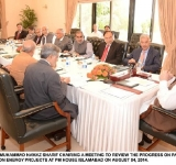 PRIME MINISTER MUHAMMAD NAWAZ SHARIF CHAIRING A MEETING TO REVIEW THE PROGRESS ON PAKISTAN – CHINA JOINT COMMISSION ENERGY PROJECTS AT PM HOUSE ISLAMABAD ON AUGUST 04, 2014.