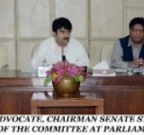 SENATOR MUHAMMAD DAUD KHAN ACHAKZAI, ADVOCATE, CHAIRMAN SENATE STANDING COMMITTEE ON COMMUNICATIONS AND POSTAL SERVICES, PRESIDING OVER A MEETING OF THE COMMITTEE AT PARLIAMENT HOUSE ISLAMABAD ON AUGUST 04, 2014.