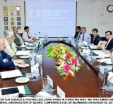 FEDERAL MINISTER FOR SCIENCE & TECHNOLOGY, ZAHID HAMID IN A MEETING WITH  MR. IYAD AMEEN ABDULLAH MADANI, SECRETARY GENERAL ORGANIZATION OF ISLAMIC CONFERENCE (OIC) IN ISLAMABAD ON AUGUST 05, 2014.