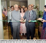 SECRETARY INFORMATION & BROADCASTING AND NATIONAL HERITAGE, MUHAMMAD AZAM INAUGURATING A PAINTING EXHIBITION REPRESENTING THE CULTURE OF PAKISTAN IN ISLAMABAD ON AUGUST 05, 2014.