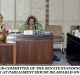 SENATOR DR. MRS. SAEEDA IQBAL, CONVENER SUB-COMMITTEE of the SENATE STANDING COMMITTEE INTER-PROVINCIAL COORDINATION, PRESIDING OVER A MEETING OF THE COMMITTEE AT PARLIAMENT HOUSE ISLAMABAD ON AUGUST 06, 2014.