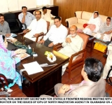 MRS. SHAHEEN SHAFIQ, PARLIAMENTARY SECRETARY FOR STATES & FRONTIER REGIONS MEETING WITH THE OFFICERS OF M/O STATES AND FRONTIER ON THE ISSUES OF IDPs OF NORTH WAZIRISTAN AGENCY IN ISLAMABAD ON JULY 8, 2014