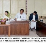 SENATOR MRS. KALSOOM PARVEEN, CHAIRPERSON SENATE STANDING COMMITTEE ON CABINET SECRETARIAT (CABINET DIVISION AND CAPITAL ADMINISTRATION & DEVELOPMENT), PRESIDING OVER A MEETING OF THE COMMITTEE, AT PARLIAMENT HOUSE ISLAMABAD ON JULY 08, 2014.