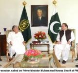 Mr. Saranjam Khan, Ex-senator, called on Prime Minister Muhammad Nawaz Sharif at PM House on July 8, 2014
