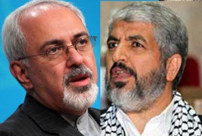 Iranian Foreign Minister telephones to Hamas chief  Khaled Meshaal