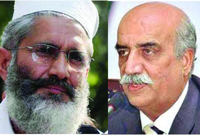 جمہوری نظام کو بچانے کیلئے سیاسی رابطوں میں تیزی آگئی،سراج الحق، خورشید شاہ متحرک